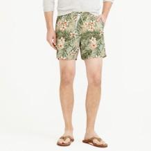 """6"""" swim trunk in jungle floral"""