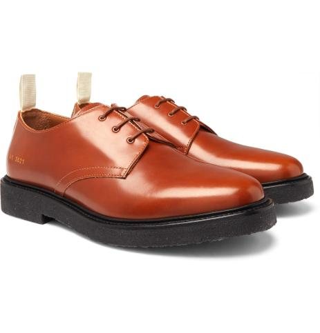common-projects-brown-Cadet-Leather-Derby-Shoes